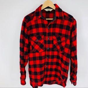 Vintage Woolrich Buffalo Plaid Wool lumberjack top